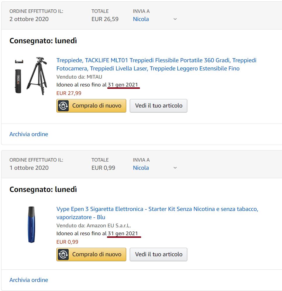 Reso su Amazon