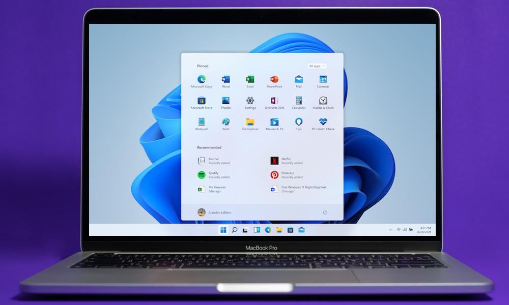 Windows 11 su Mac