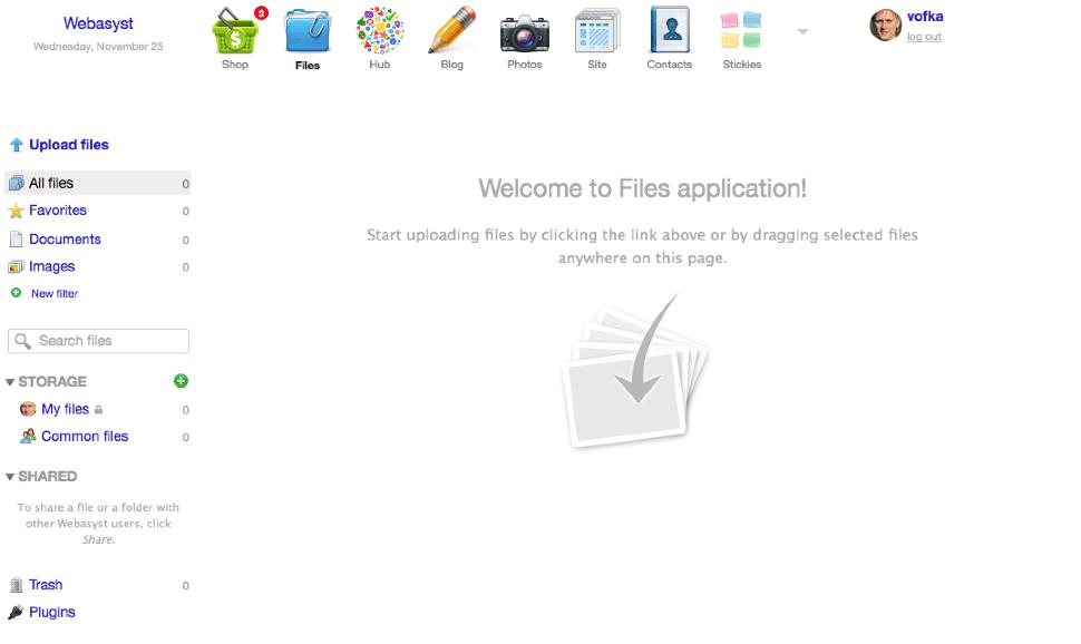 Cloud file storage for teams — Webasyst Files