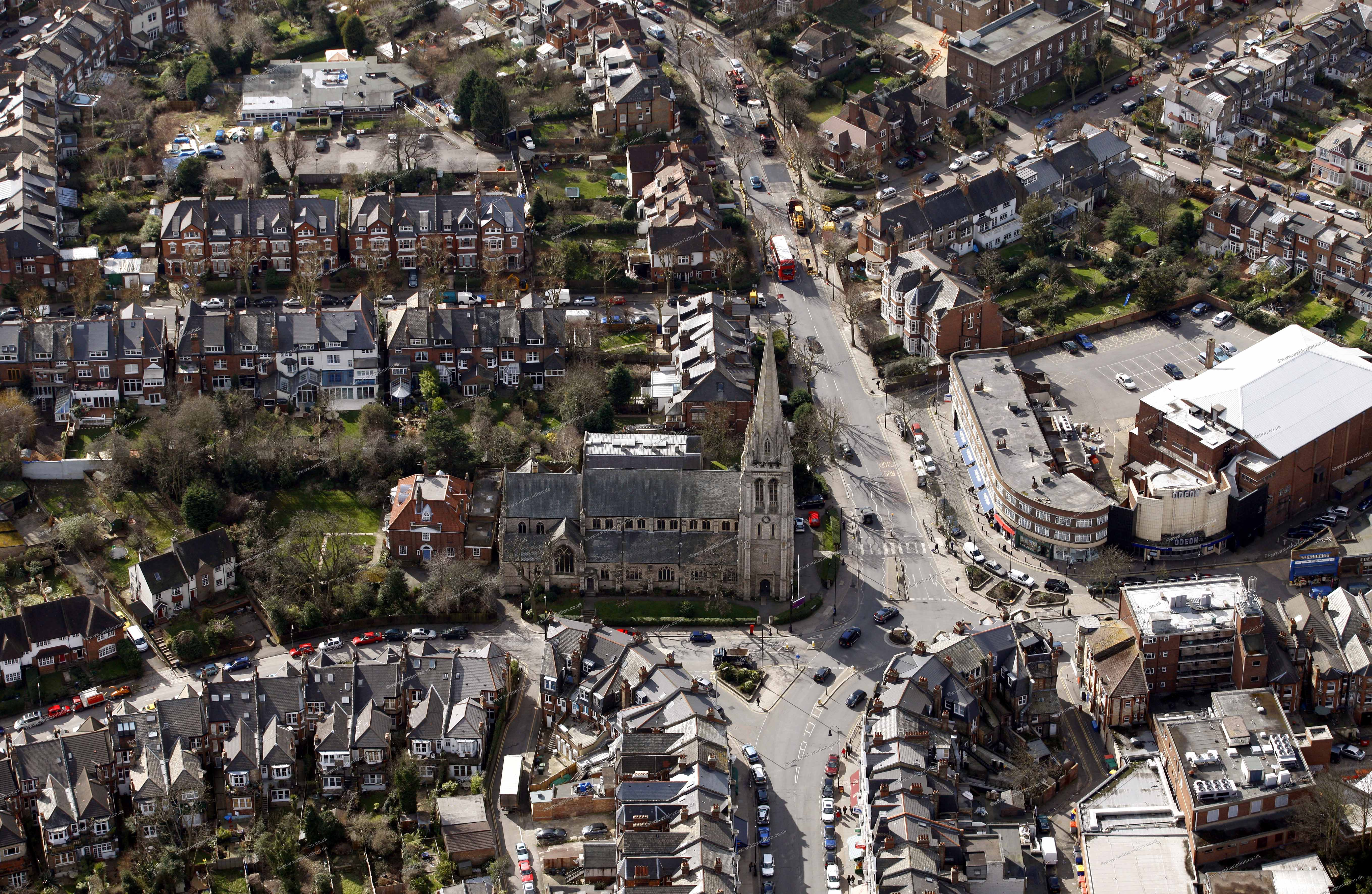 Muswell Hill Aerial Photograph Db10917jpg