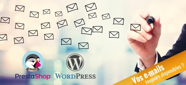 Ne perdez pas vos mails sous Prestashop & WordPress