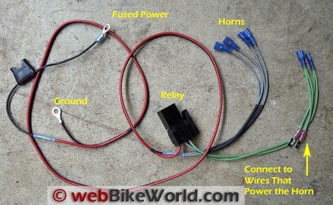 Motorcycle Horn Wiring Diagram