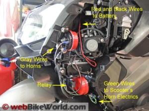 Dual Horn Relay Wiring Harness  webBikeWorld