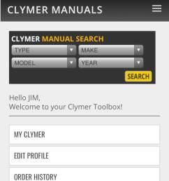 clymer online manual on mobile [ 800 x 1732 Pixel ]