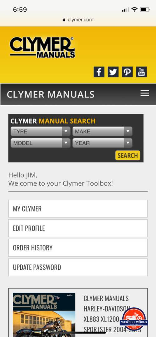 small resolution of clymer online manual on mobile
