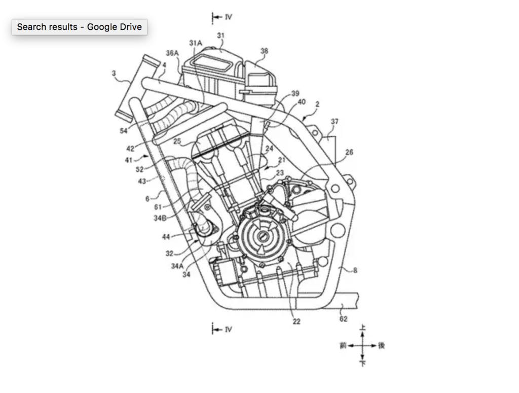 hight resolution of suzuki twin turbo motorcycle patent