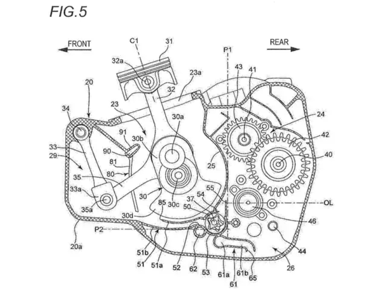 Suzuki's Counterbalanced Single-Cylinder Engine Patent