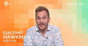 """Giacomo Hawkman ospite di UnoMattina su Rai 1: viene presentato come """"scrittore"""" – video dell'intervista"""