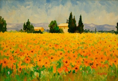 21.Sunflowers Luberon Valley Provence 17 x 24 in