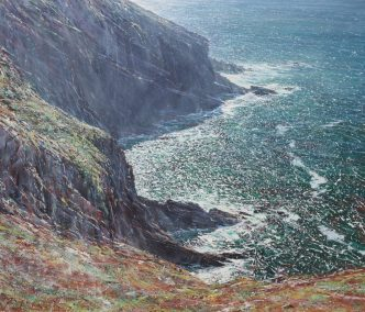 Looking South from Morte Point, oil on canvas, 120 x 140 cm