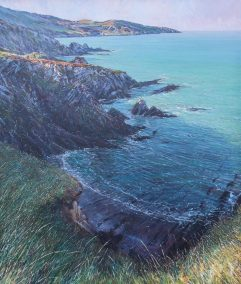 Morte Point from Bull Point, oil on canvas, 140 x 120cm