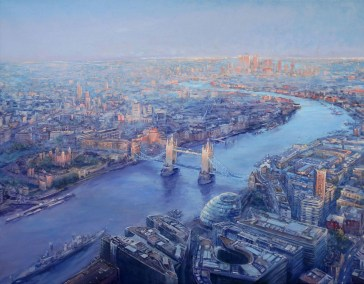 London view East 114 x 146 cm