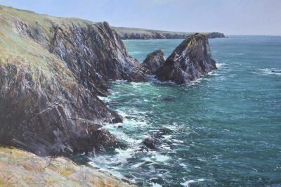 00320 Lizard Point and Lion Rock from Kynance 1000 x 1600mm oil on canvas