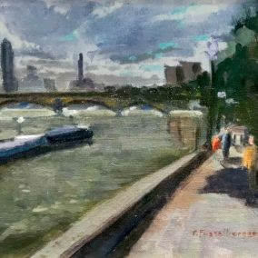 Battersea Bridge from Cheyne Walk
