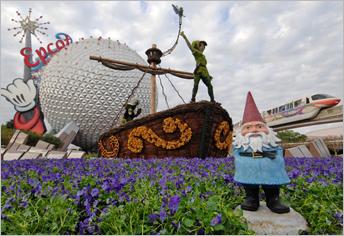 Travelocity Roaming Gnome visits Epcot