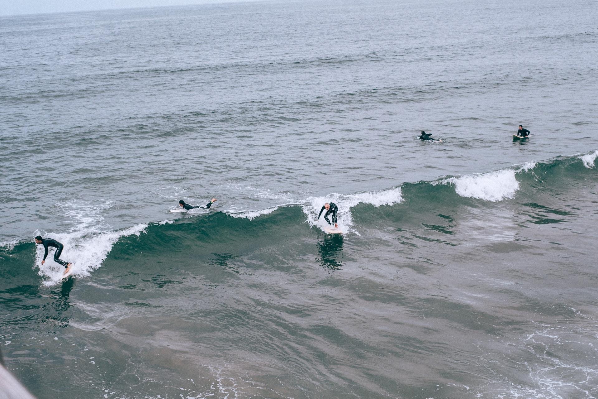 Webcam surfers Egmond aan Zee