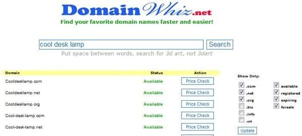 DomainWhiz Search Result