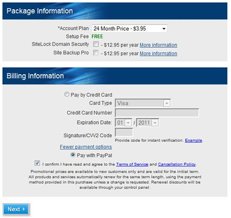 Package and Billing Information