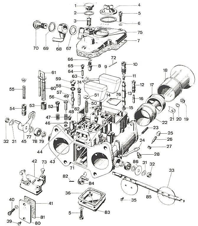 Weber 45 DCOE Carburettor