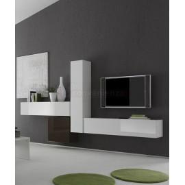 mondo convenienza infatti, garantisce una grande funzionalità con i suoi mobili pratici, ma anche un arredamento di gran gusto scevra da qualunque formalismo, semplice, dal design moderno e non solo ; Infinity 66 D Parete Attrezzata Bianco Lucido E Antracite