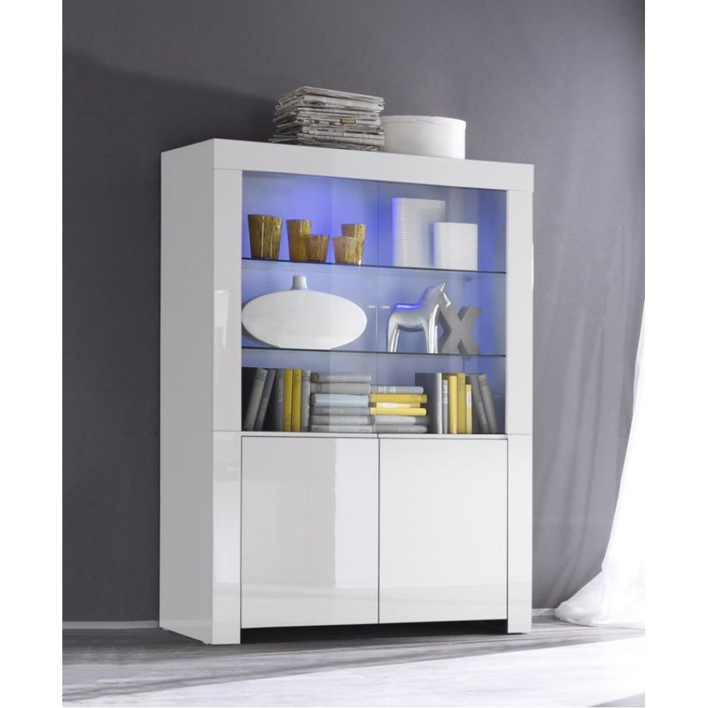 Se il nostro stile rispecchia il design moderno ed essenziale, ecco la. Amalfi Vetrina 2 Sportelli Bianco Lucido E Vetro Web C