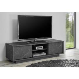 Parete attrezzata bianco/legno mobile tv moderno casa soggiorno sala. Carrara Base Tv 2 Ante Effetto Marmo Nero Web Convenienza