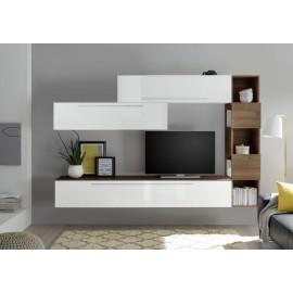 Parete attrezzata belle bianco/antracite mobile soggiorno tv design pensili sala. Pareti Attrezzate Soggiorno Vendita Online