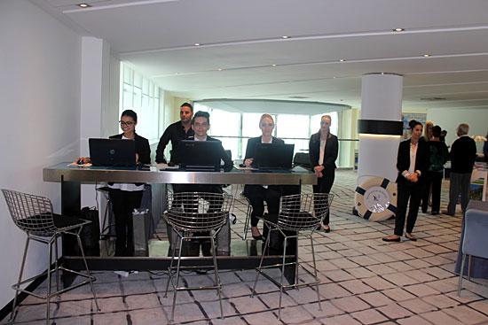 L'équipe chargée de l'accueil des visiteurs