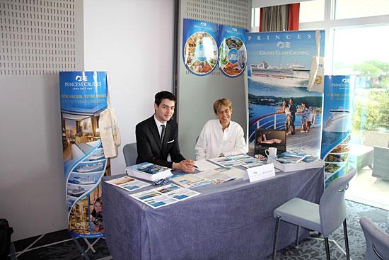 Le stand de la compagnie Princess Cruises