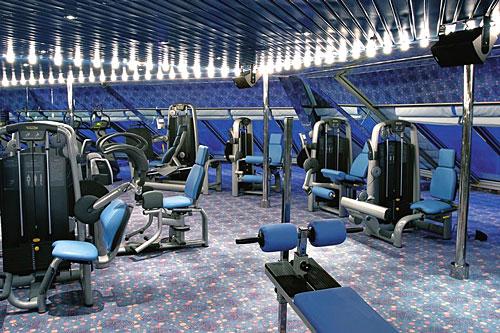 Salle de sport d'un navire Costa Croisières
