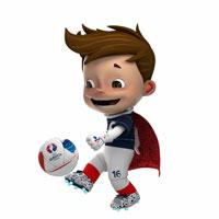 La mascotte de l'Euro 2016 organisé en France