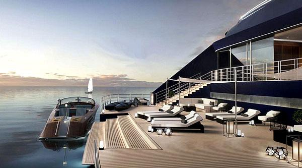 """Les navires disposeront d'un """"quai"""" pour accès via d'autres navires plus petits"""