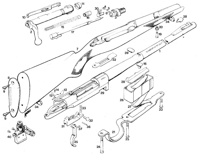 DIAGRAM >> Winchester Model 54 Rifle