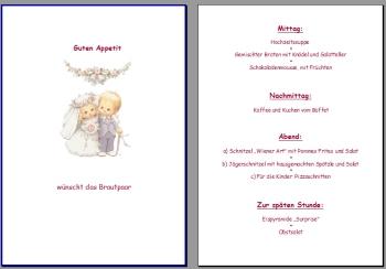 Text Muster Menkarte fr Hochzeit Vorlage selber machen