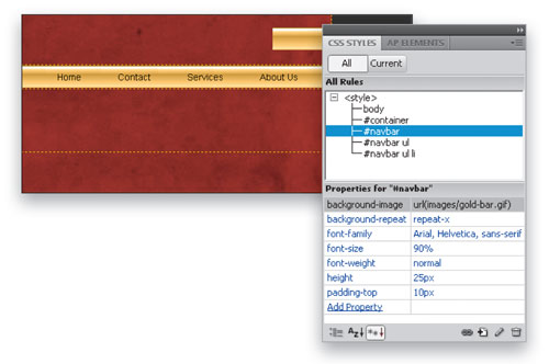 Add  Depth and Dimension in Dreamweaver CS4 image 9