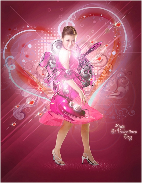 St Valentine's Day Photo Manipulation