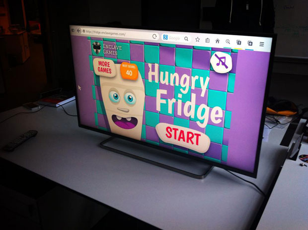 Screenshot of Hungry Fridge web sport on the desktop