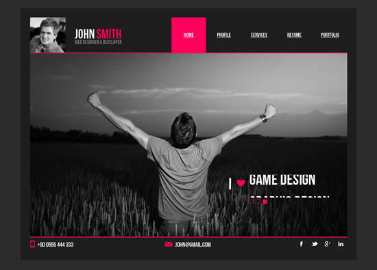 Personal Resume Muse Template