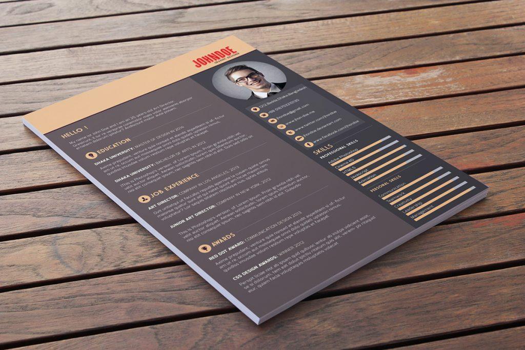 Free Download: Free Resume Template | Webdesigner Depot
