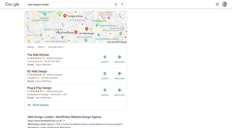 Google Reviews - Web Designer