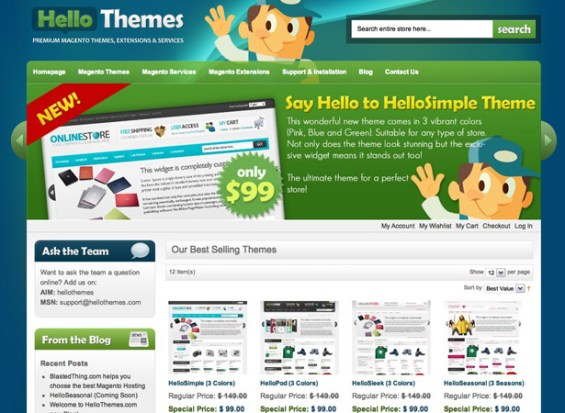hellothemes 50 giao diện đẹp của website doanh nghiệp