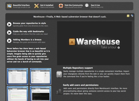 warehouse 50 giao diện đẹp của website doanh nghiệp
