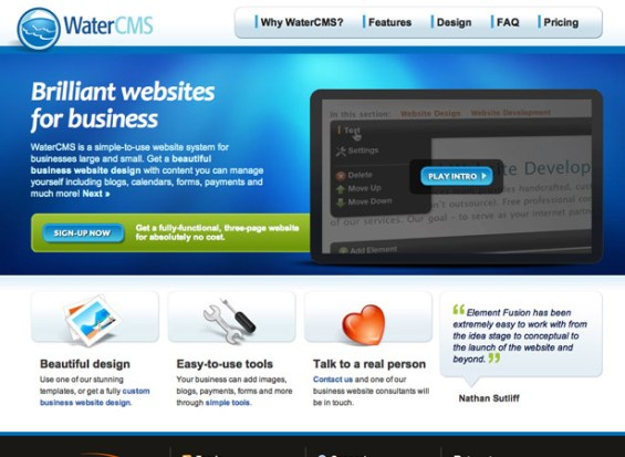 watercms 50 giao diện đẹp của website doanh nghiệp