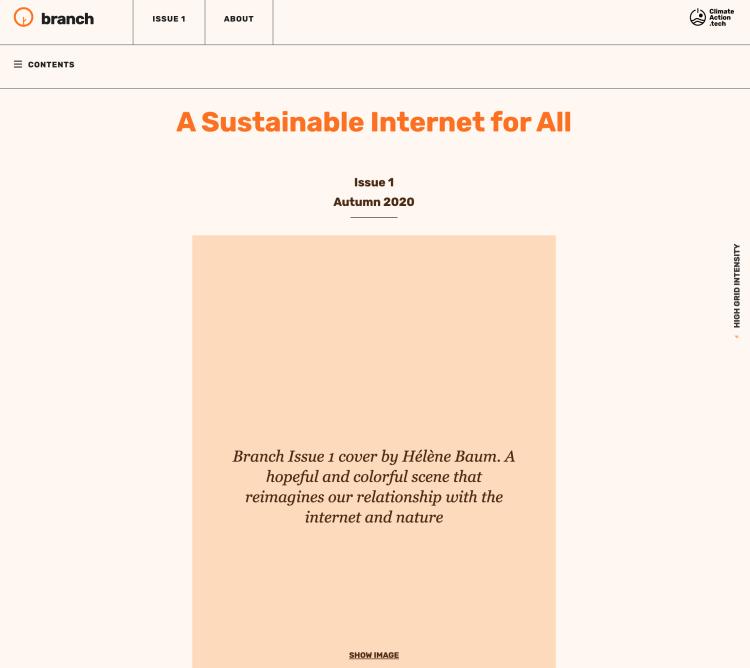 Branch website high intensity