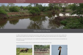 game reserve web design