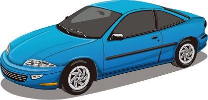 blue car vector free
