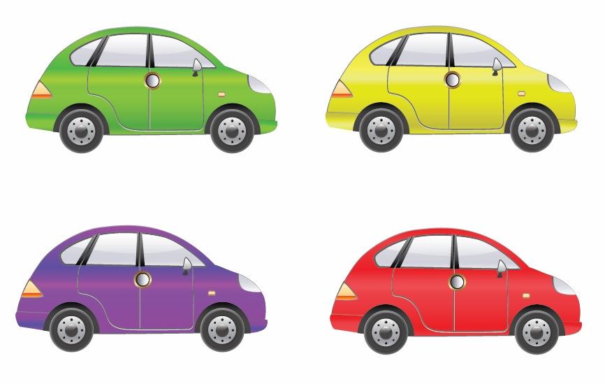 set of four car