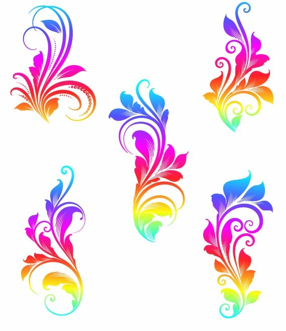 colorful swirls vector graphics