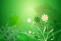 Vector Floral Design on Green Background | Free Vector ...