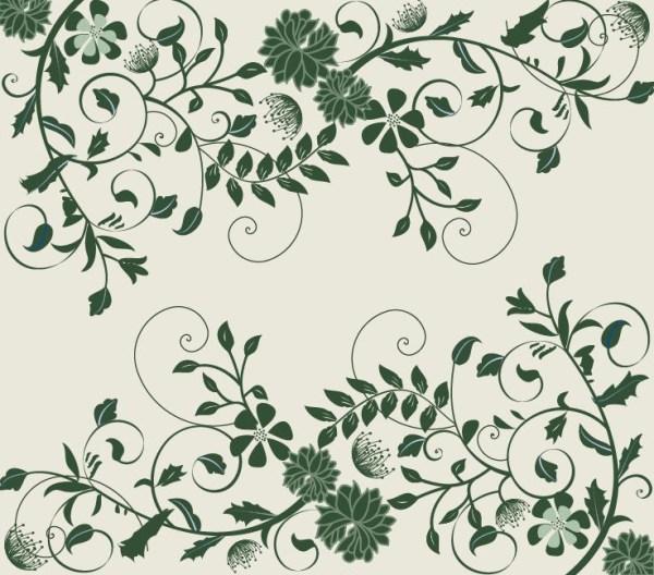 elegant green floral background